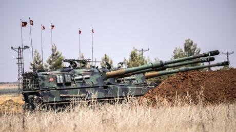 Des tanks turcs près de la frontière turco-syrienne, le 3 septembre 2016.