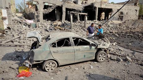 Bombardement saoudien à Houdieda au Yémen, 5 septembre 2016. Image ©Reuters