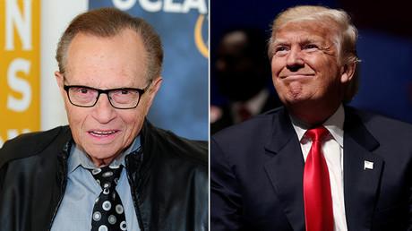 Larry King et Donald Trump