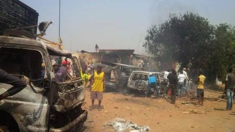 De nombreuses destructions ont été causées lors de cette manifestation très violente