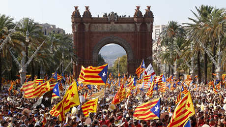 Manifestation lors de la «Diada» du 11 septembre 2016, à Barcelone.