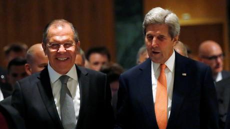Sergueï Lavrov et John Kerry à Genève
