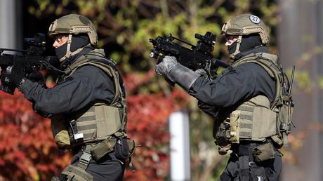 Des membres de l'unité d'intervention de la police allemande GSG9.