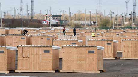 Le camp de réfugiés près de Grande-Synthe.