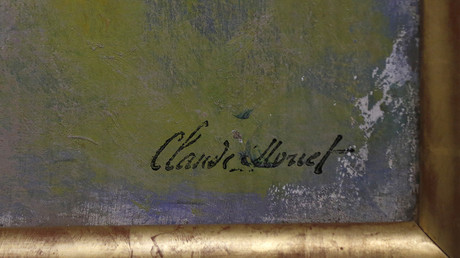Signature de Claude Monet. Image ©Reuters