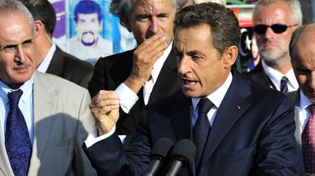 Nicolas Sarkozy à Benghazi le 15 septembre 2011
