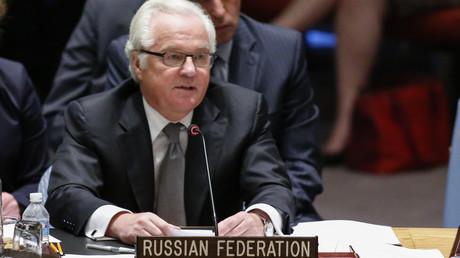 Vitali Tchourkine, ambassadeur de la fédération de Russie auprès de l'Organisation des Nations unies à New York.