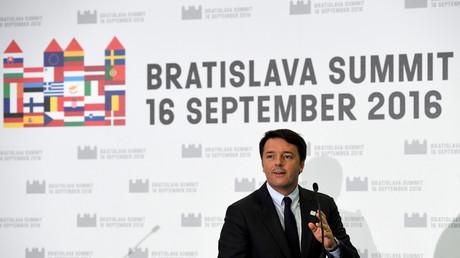 Matteo Renzi lors du sommet à Bratislava