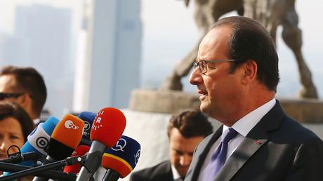 François Hollande à Bratislava, le 16 septembre 2016