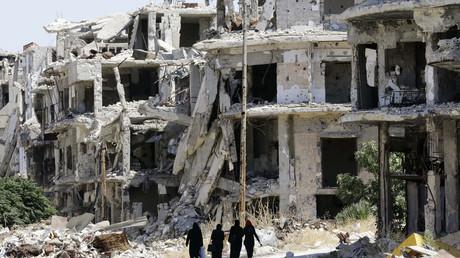 La ville de Homs, en Syrie.