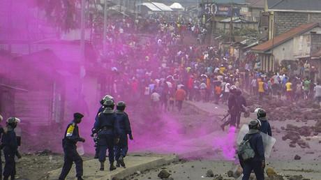 Les manifestations à Goma, République démocratique du Congo, le 19 septembre 2016.