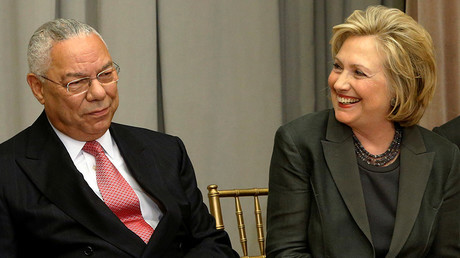 Colin Powell et Hillary Clinton