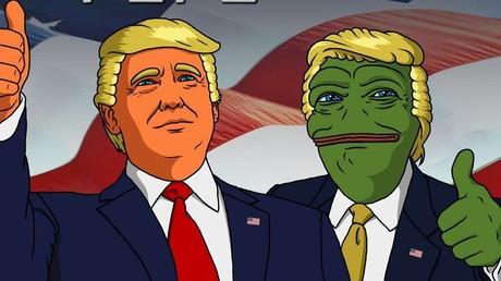 Un meme de Pepe the Frog avec Donald Trump