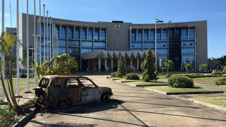 L'Assemblée nationale gabonaise, attaquée par les manifestants