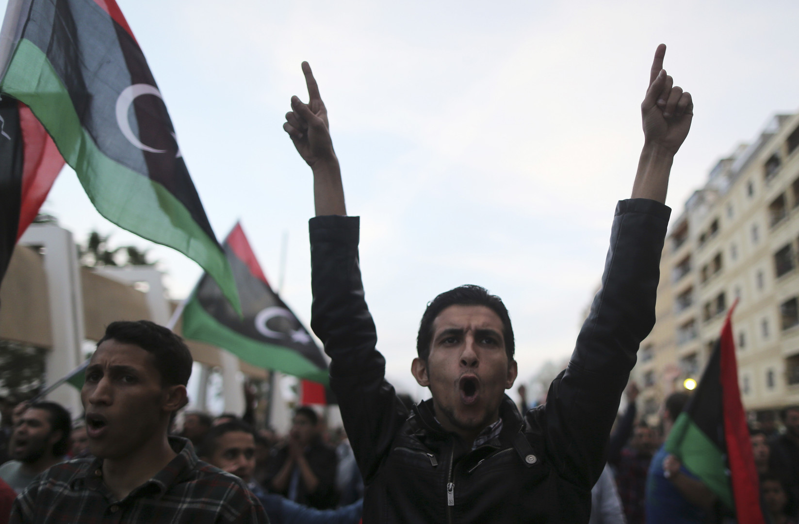Manifestation à Benghazi, Libye