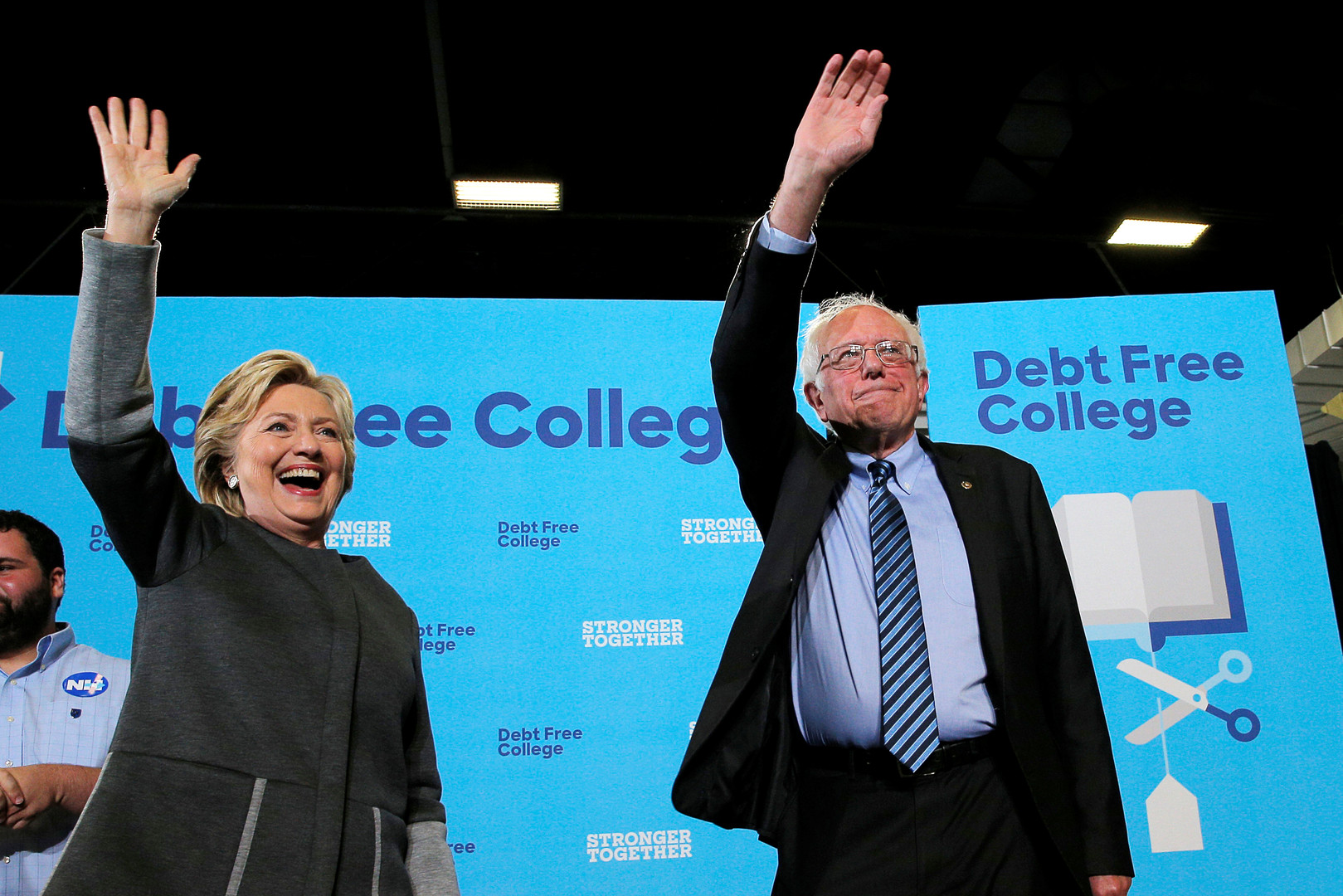 Hillary Clinton et Bernie Sanders