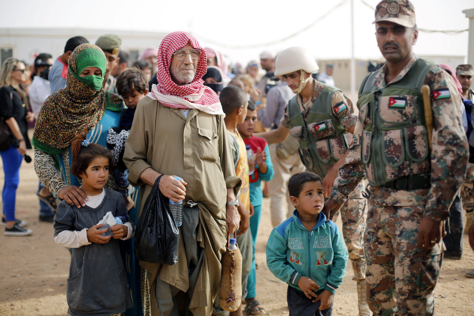 Des réfugiés syriens en Jordanie