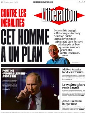 Les dix unes qui prouvent que Libération fait de la propagande pro-Poutine