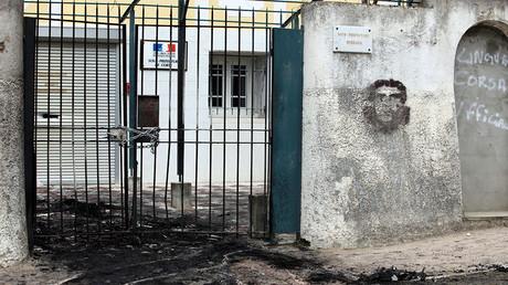 La sous-préfecture de Corte, le 2 avril 2012. Photo ©Pascal Pochard Casabianca/AFP