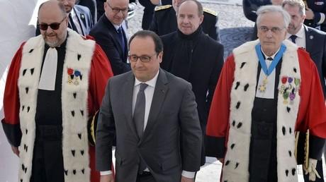 François Hollande à la cérémonie d'ouverture annuelle de la cour de cassation en janvier 2016
