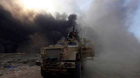 Soldats irakiens lors de l'opération contre Daesh, Mossoul