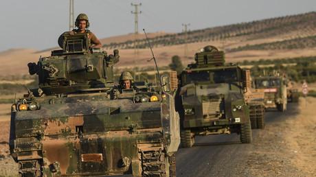 Des soldats turcs près de la frontière turco-syrienne, en septembre 2016.