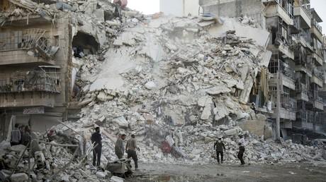 Un quartier de la ville d'Alep, le 17 octobre.