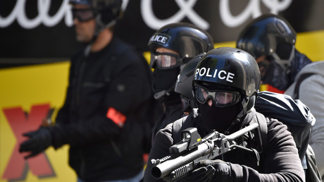 Policiers de la Brigade anti-criminalité (BAC) à Nantes le 3 mai 2016