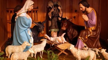 Une crèche de Noël en Alsace