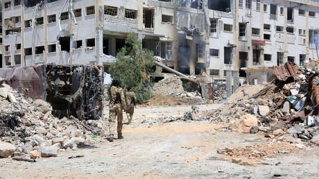 Les forces fidèles au président syrien Bachar el-Assad à Alep, Syrie