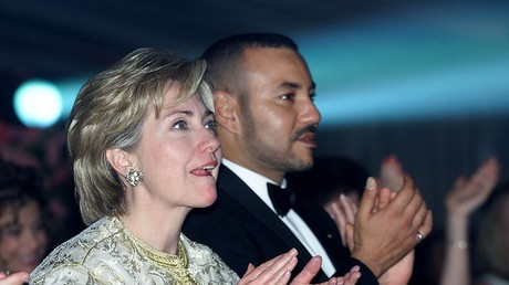 Hillary Clinton aux côtés du roi Mohammed VI