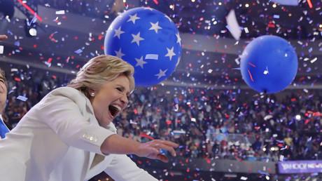 Hillary Clinton lors d'un meeting en juillet 2016