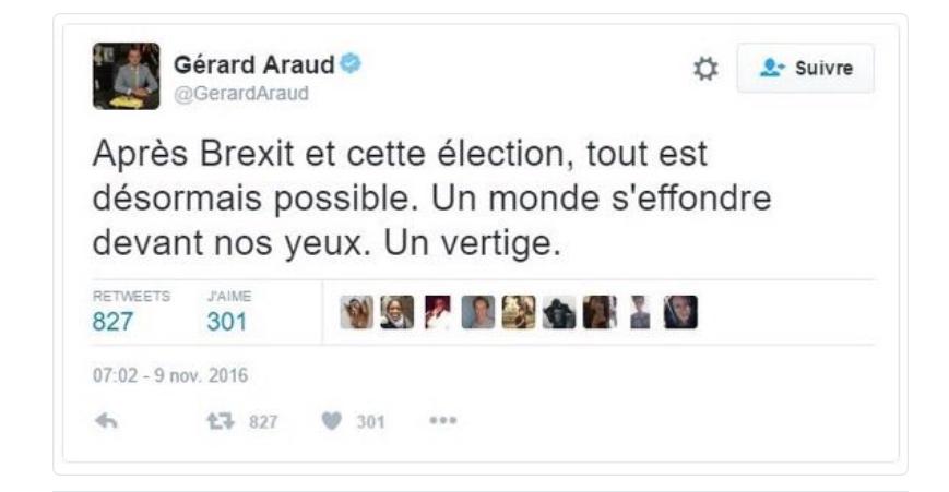Après un message apocalyptique sur Trump, l'ambassadeur de France aux USA incendié sur Twitter