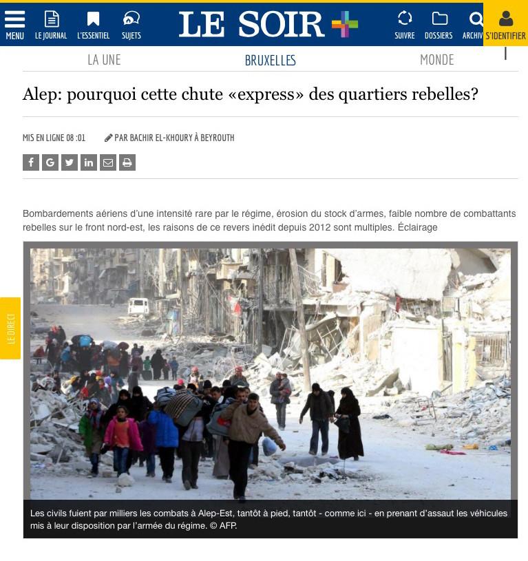 Traitement médiatique d'Alep : une autre histoire derrière l'écran de fumée mainstream