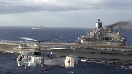 Le porte-avion russe Amiral Kuznetsov