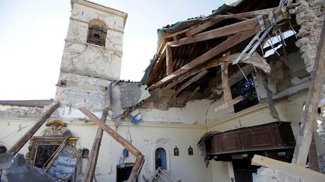 Une église détruite à Borgo Sant'Antonio