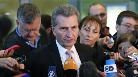 Le commissaire européen allemand Günther Oettinger