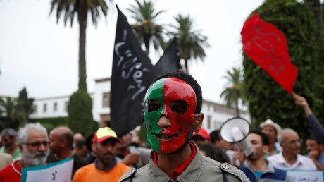 Une protestation au Maroc