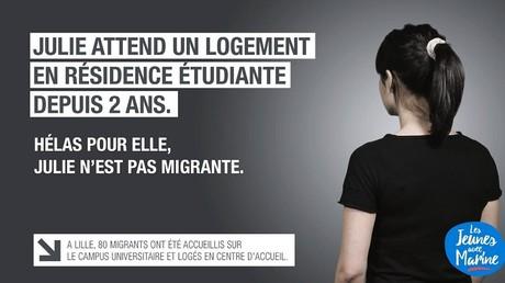 «Hélas pour elle Julie n'est pas migrante» : la nouvelle affiche du FN qui fait polémique sur le net