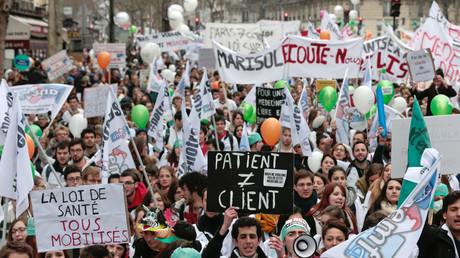 Le personnel hospitalier s'est mobilisé en 2015 contre les réformes engagées par la ministre de la Santé