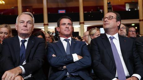 Jean-Marc Ayrault, Manuel Valls et François Hollande