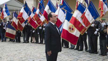 François Hollande lors de l'hommage aux harkis le 25 septembre 2016