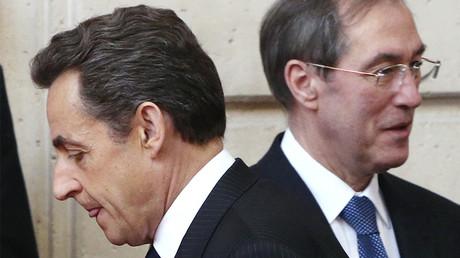 Nicolas Sarkozy et Claude Guéant en mars 2012, ©Reuters