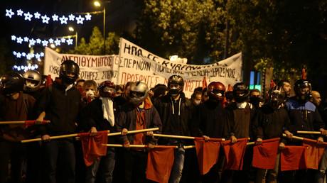 Les démonstrations contre la visite de Barack Obama en Grèce, novembre 2015