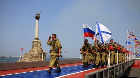 Célébrations du jour de la Marine à Sébastopol en Crimée