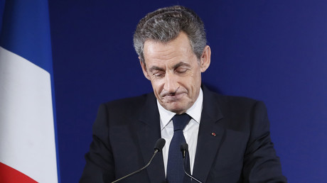 Nicolas Sarkozy, lors de sa reconnaissance de défaite.