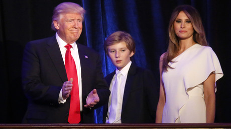 Donald, Barron et Melania Trump