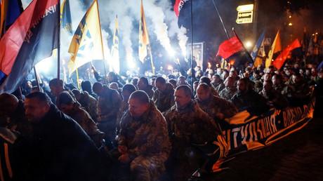 Membres du Régiment Azov à Kiev