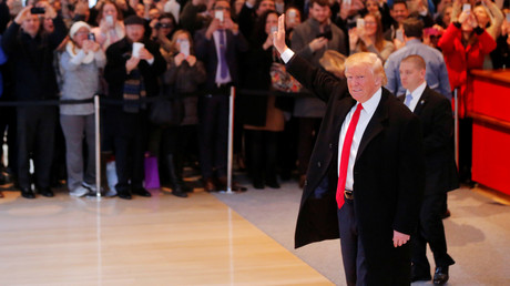 Donald Trump dans le bureau du New York Times