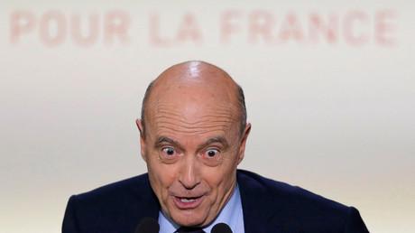 Alain Juppé lors d'un meeting de campagne